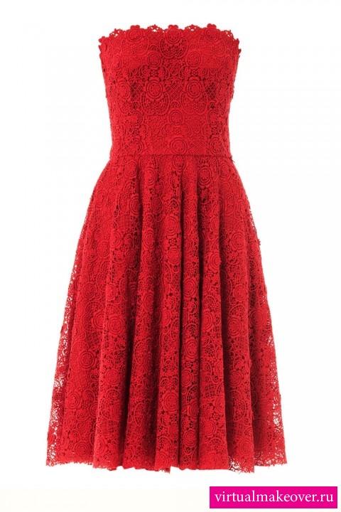 Эффектное коктейльное платье Ally's