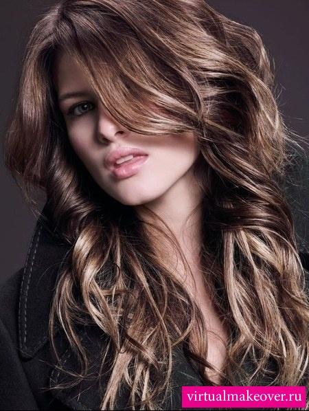 прически на длинные волосы колорирование