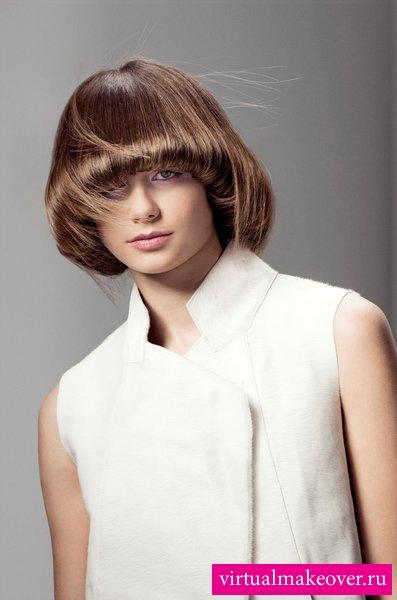 волосы прямыми: