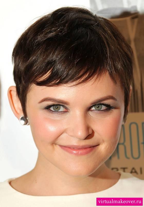 Фото причесок для круглого лица на короткие волосы