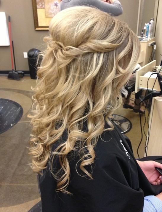 Прическа своими руками на длинные волосы без челки