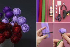 Поделки цветов из гофрированной бумаги