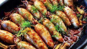 Фаршированные кальмары рецепты с фото простые и вкусные