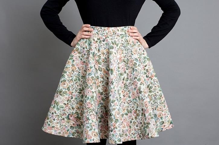 Как сшить юбку полусолнце на резинке своими руками пошагово