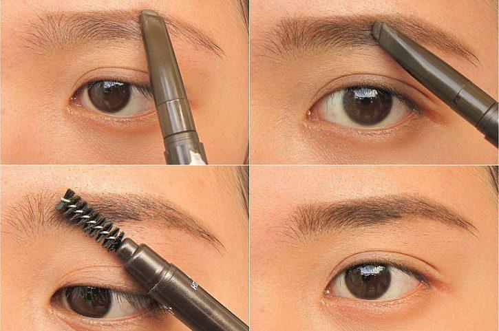 брови карандашом