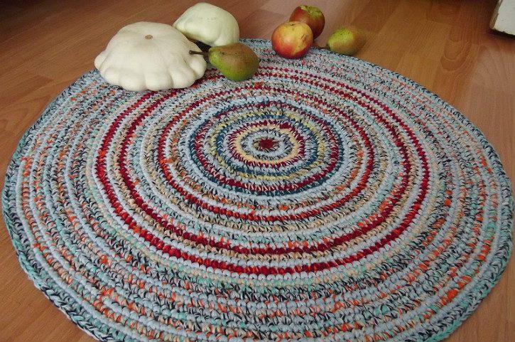 бабушкин коврик крючком