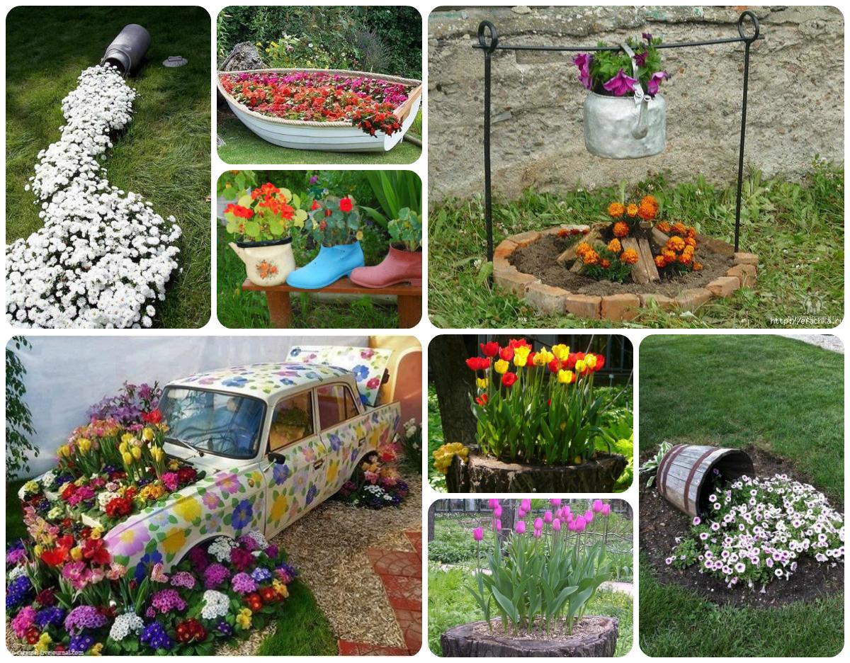 Клумбы и поделки для сада