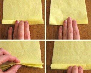 1 - нарезать салфетки