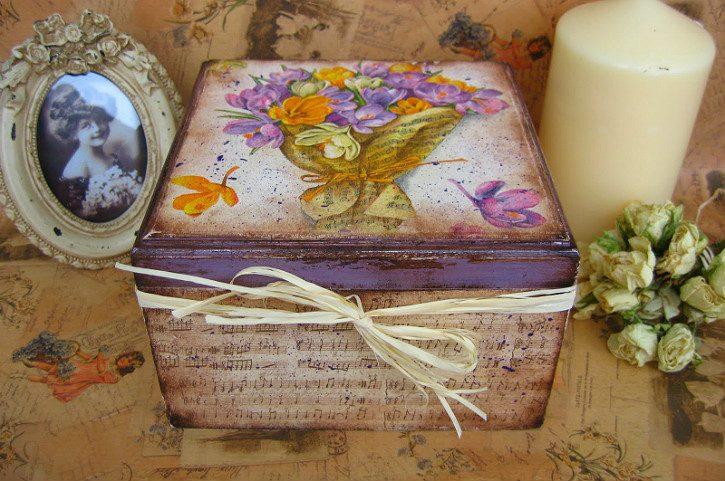 коробка в стиле прованс