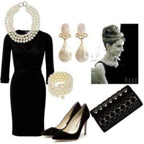 черное платье стиль