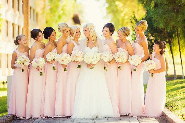длинные платья на свадьбе