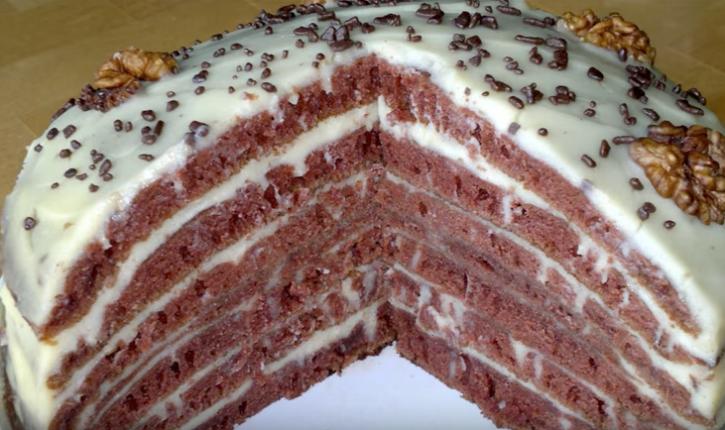 торт, приготовленный сковороде - простой и быстрый рецепт шоколадного торта