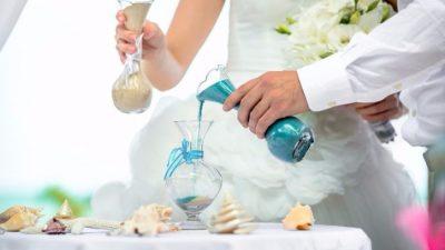 Песочная церемония - красивый обряд на свадьбу