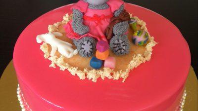 Пирог с персиками пошагово в