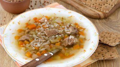 Вкуснейший суп с гречкой на курином бульоне