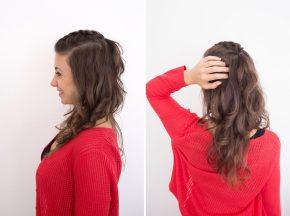 Прическа с косой на длинные волосы пошагово