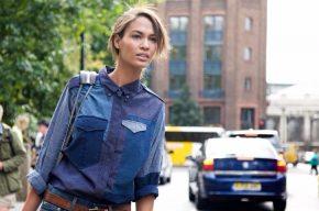 В тренде: стильные образы с джинсовой рубашкой